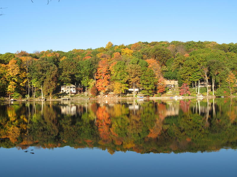 Autumn at Lake Tamarack...taken from our dock a few years back...enjoy! - Patricia