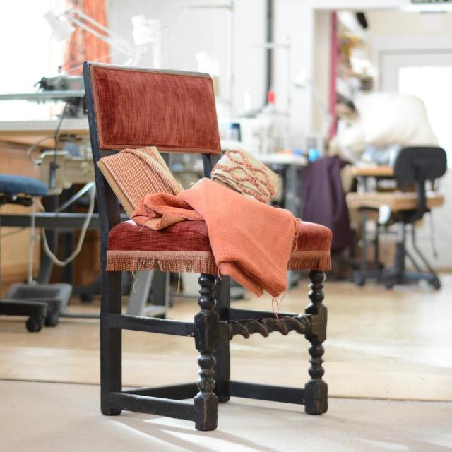 BEFORE: this #barleytwist chair with #bobbin legs is getting #updated with new @nobilis_paris #fabric and @duralee #trim. Stay tuned for the #afterpic! . . . #staytuned #revival #redo #redux #reupholstery #oldisnew #transitionaldesign #finefabrics #furnituredesign #chair #antiquechair #beforeandafter #beforeandafters #beforeandafterpic #before #beforepic