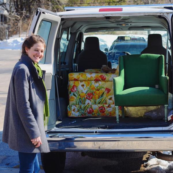 Doesn't this van full of #furniture to #revive looks like #spring!? #reupholstery #revival #redo #redux #newlifeforoldthings #upcycledfurniture #upcycle #reuse #remake #upholstery #revived #redone