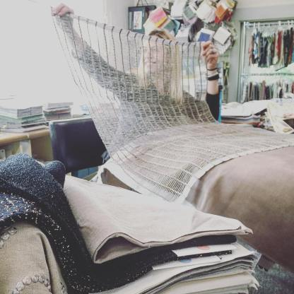 Designer @courtneysaulnier dreaming up possibilities for this new #hillbrownfabrics #openweave #linen from @clarencehousetextiles. . . . #ideas #linenfabric #clarencehouse #endlesspossibilities #interiordesign #designer #designeratwork #dreamer #lovemywork #creativeprocess #creativeprofessional #professionaldreamer #behindthescenes #newfabrics #linenlove #linenlover #belgianlinen