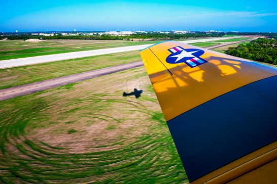 View from Steve DeWolf's vintage aircraft (Photo by Danny Fulgencio)