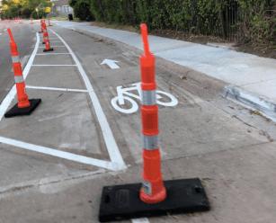 bike lanes on Abrams road