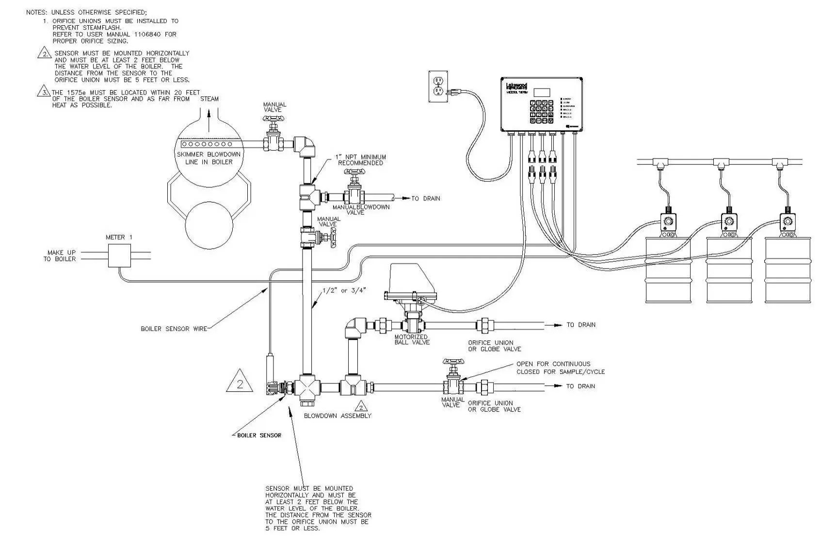 boiler feed water system diagrams