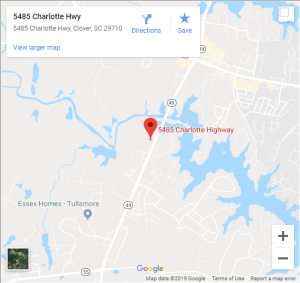 Lake Wylie Rotary Map to Meeting