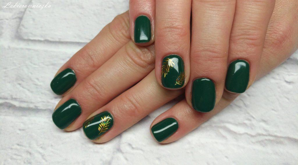 zlote-naklejki-liscie-Acalpulco-Neo-nail-Eclair-36-Provocater-109-Green-Stockholm-Lakierowniczka-paznokcie-hybrydowe-złote naklejki liście