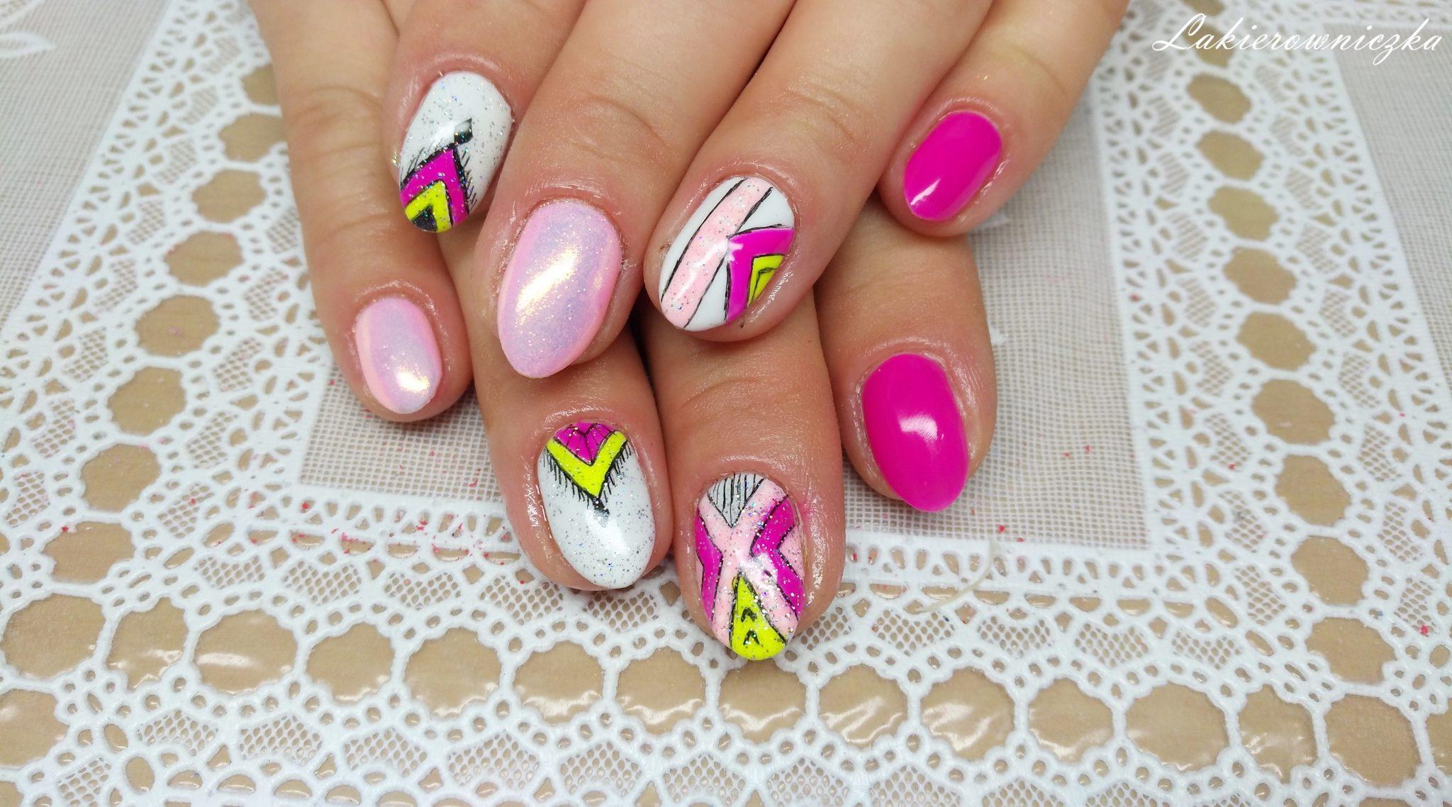 Hybryda Neonowy Roz I Zolty Neon Semilac 008 Intensive Pink I Dvn 125