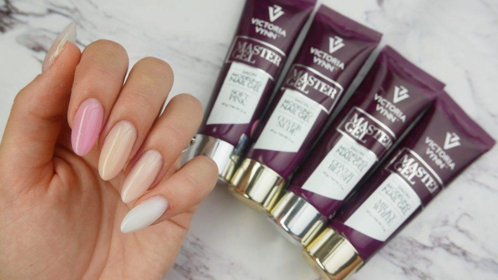dostepne-kolory-akrylo-zeli-Victoria-vynn-Master-gel-soft-pink-cover-nude-cover-blush-milky-white-totally-clear-fully-white-przedluzanie-Lakierowniczka-zdobienie-120-Light-moss-38-copper-smart-white