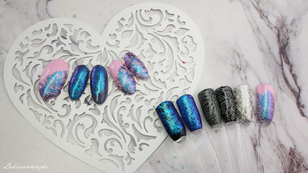 stemplowanie-pylkiem-victoria-vynn-22-dust-chameleon-blue-Lakierowniczka-efekt-kameleona-170-light-ash-114-dust-orchid