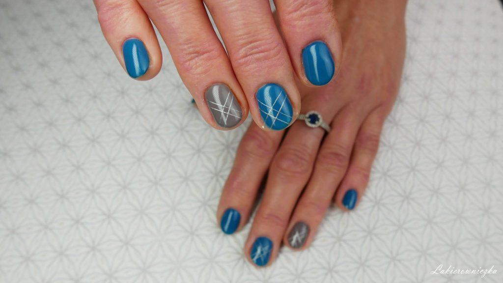 spider-gel-Silcare-geometric-hybrid-gel-silver-gold-black-matte-nails-czarne-matowe-hybrydy-Lakierowniczka-spider gel Silcare