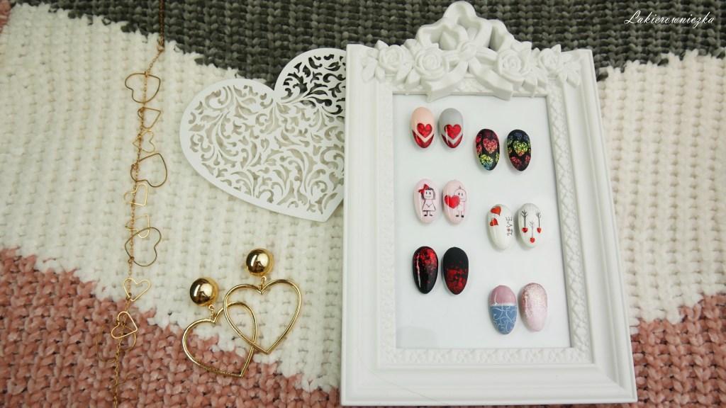 walentynkowe-paznokcie-hybrydowe-valentines-day-hybrid-nailart-zdobienia-serce-kolorowe-ombre-folia-hybrydy na walentynki-Lakierowniczka