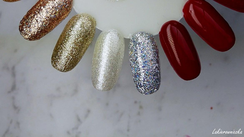 hybrydy-zimowe-świąteczne-paznokcie-Eveline-Jaga-Victoria-vynn-Kinetics-Hihybrid-Semilac-Born-Pretty-żel-do-zdobień-Lakierowniczka
