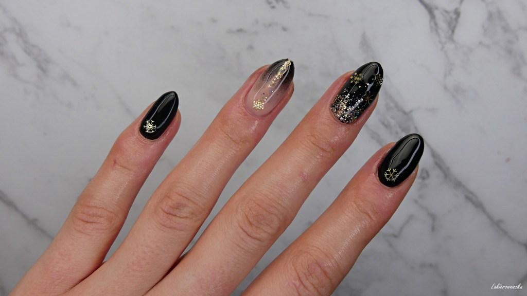 czarno-zlote-paznokcie-na-impreze-hybrydy-black-gold-nails-hybrid-Victoria-vynn-Lakierowniczka