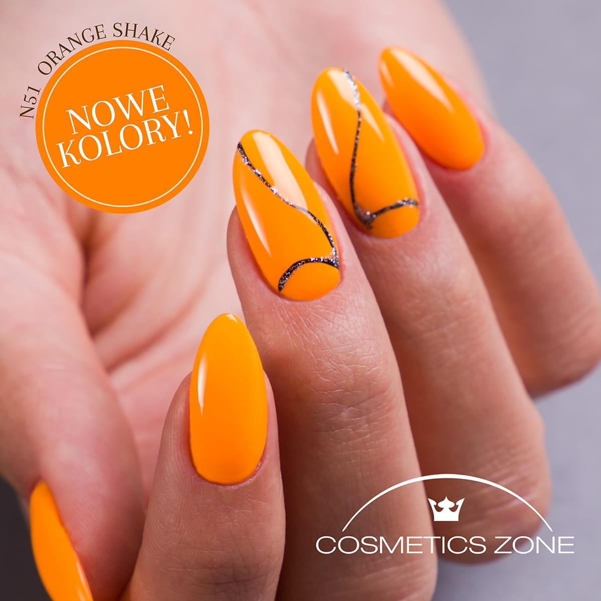 Lakier Hybrydowy Neonowy Pomaranczowy 7ml Orange Shake N51