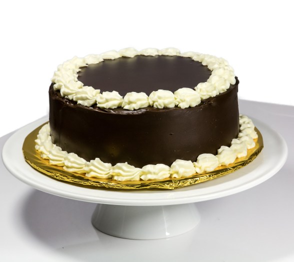 Chocolate Cake with Vanilla Buttercream Filling and Chocolate Ganache Frosting