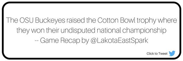 Cotton Bowl OSU vs. USC Bowl Guide Recap by Dustin Horter Art by Lauren Maier Lakota East Spark Online Newsmagazine Spark
