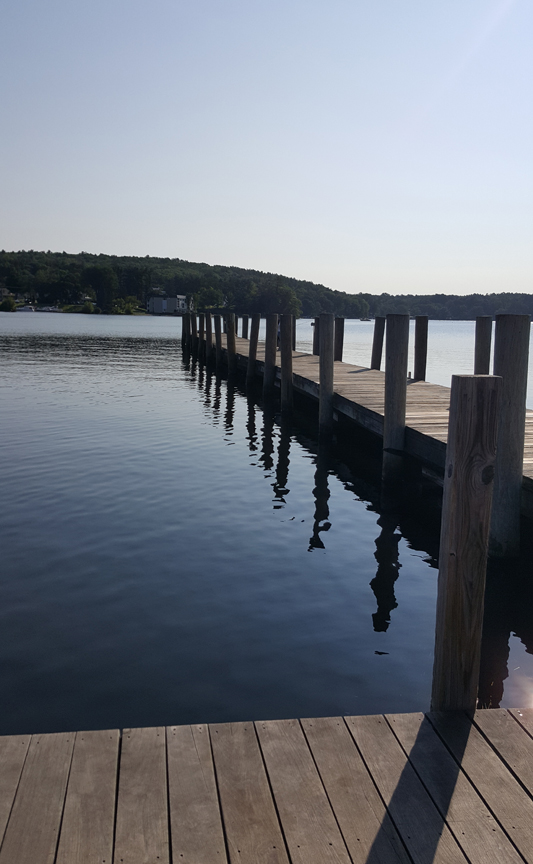 Sitting on the dock at the bay