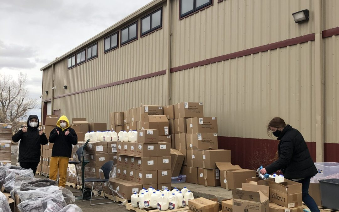CRYP Distributes 1,100 Food Boxes to Cheyenne River Community