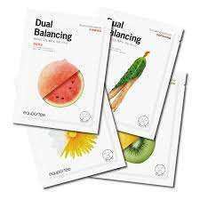 EQUPORTEE Dual Balancing Real Essential Oil Mask Pack Set (100pcs)