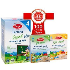 TOPFER LACTANA 4, RICE CEREAL WITH WHOLE GRAIN & RICE CEREAL BANANA