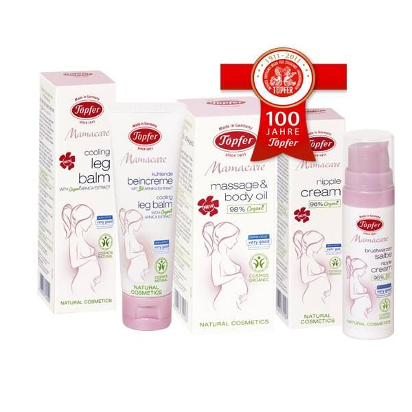 TOPFER MASSAGE & BODY OIL, TOPFER COOLING LEG BALM &  TOPFER NIPPLE CREAM