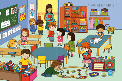 une nouvelle maternelle lala aime sa classe. Black Bedroom Furniture Sets. Home Design Ideas