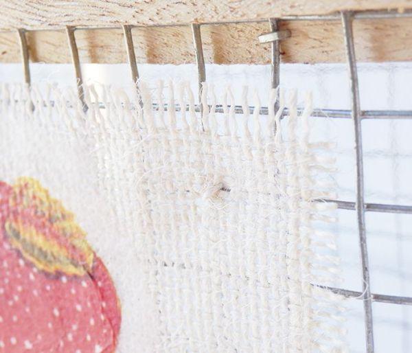 Portavelas de rejilla con deco de setas