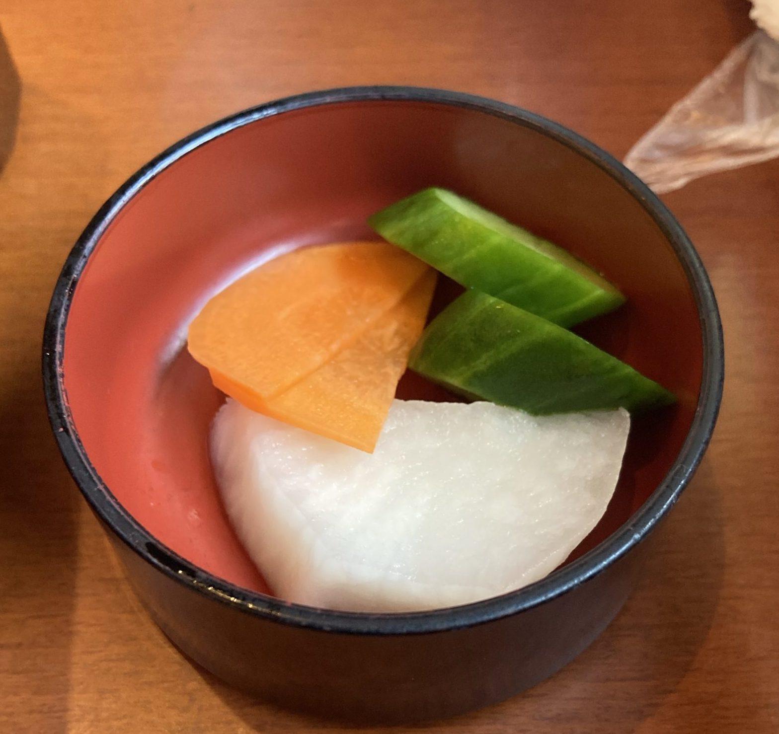 うなぎ千草/漬物