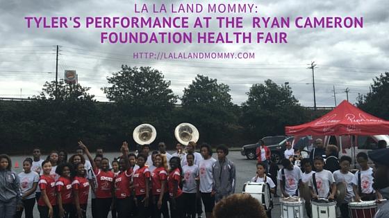 La La Land Momm: Tyler's Performance At The Ryan Cameron Foundation Health Fair