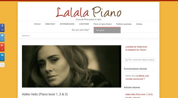 Blog piano facile