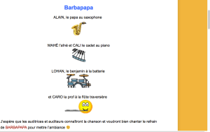 Partition 4 mains Barbapapa