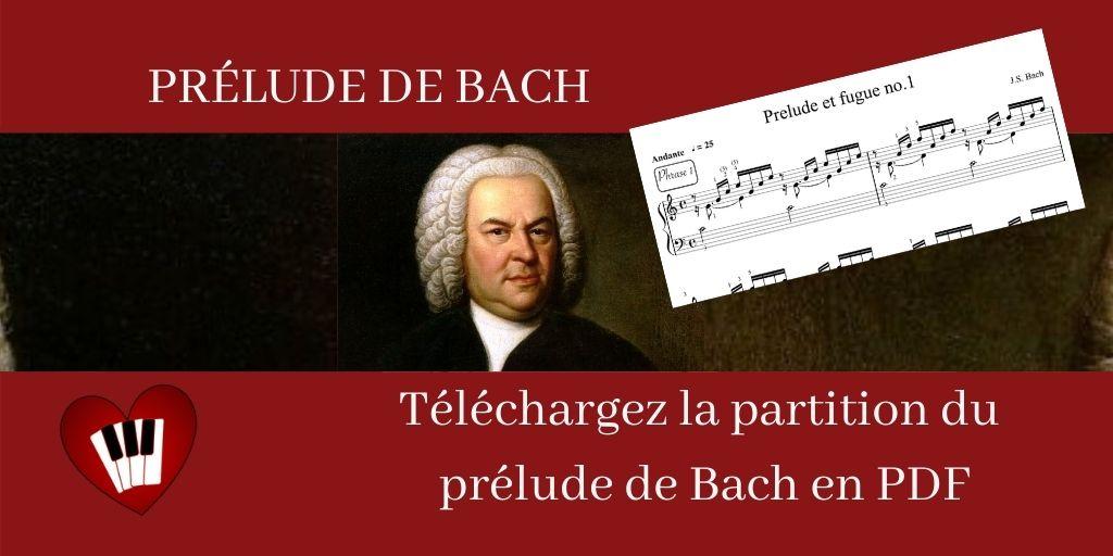 Partition facile (débutants et intermédiaires) : le Prélude de Bach