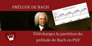 Partition facile Prélude de Bach débutants