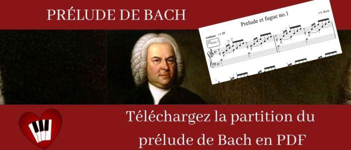 Image du prélude de Bach à télécharger