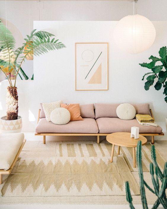 Pink Sunroom Sofa