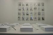 Individual Utopias, installation view, books, drawings, 2008