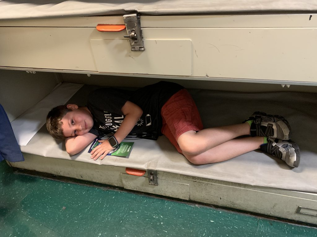 trying out a bunk bed