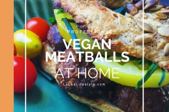 Gluten free high protein vegan meatballs