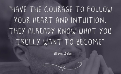 follow intuition, success in business