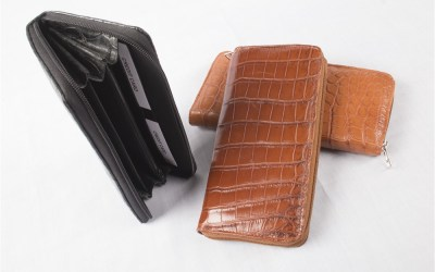 Crocodile Leather Ladies Zip Purse