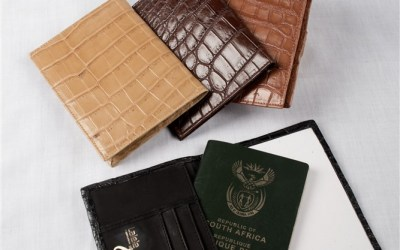 Crocodile Leather Passport Holder