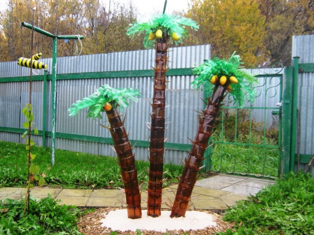мастер класс пальма из бутылок пластиковых своими руками