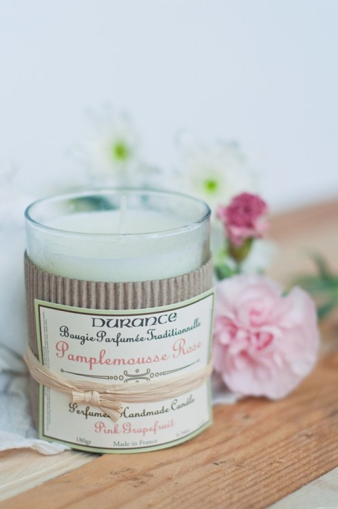 Bougie pamplemousse rose Durance