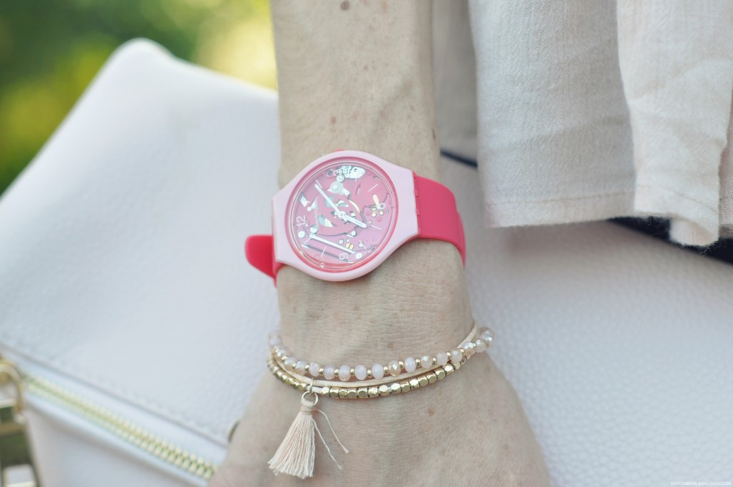 Montre SKINAMOUR Swatch rose