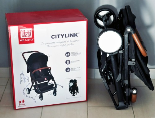 Test avis poussette compacte CityLink Red Castle Bande de parents blog maman Alexiane