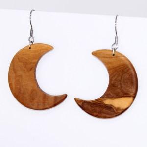 Boucles d'oreilles croissant Lune – Olivier
