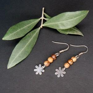 Boucles d'Oreilles Fleur – Argent 925