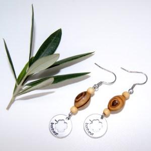 Boucles d'oreilles Trèfle – Argent plaqué
