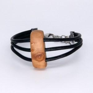 Bracelet Cerisier 3 cordons Cuir – Mixte