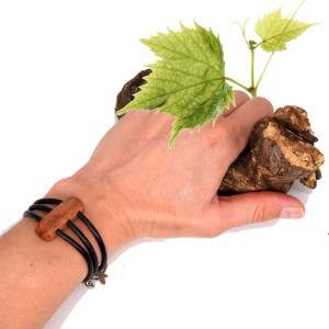 Bracelet Vigne 3 cordons Cuir – Mixte