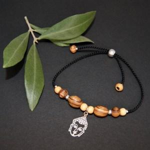 Bracelet réglable Bouddha – Argent 925